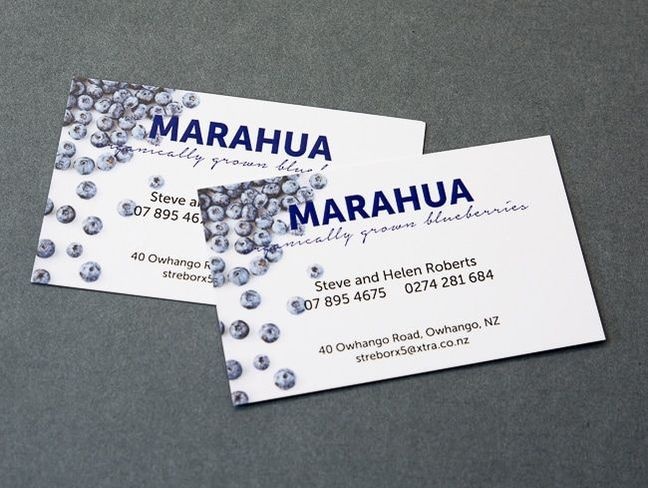Digitally Printed Business Cards Marahua