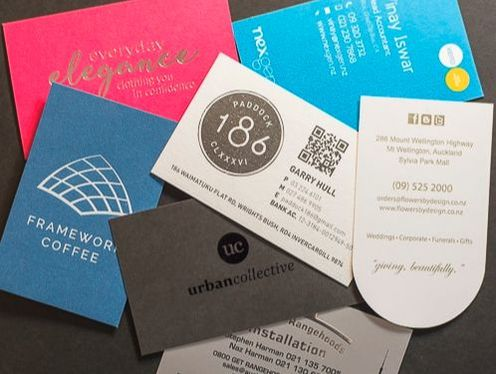 offset printed business cards