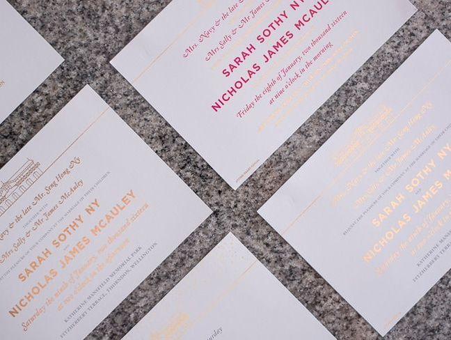colour digitally printed invites