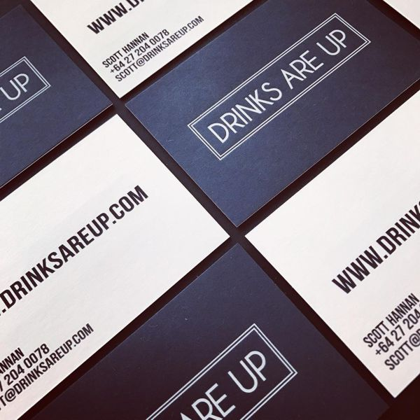 foil and digitally printed business cards duplex glued