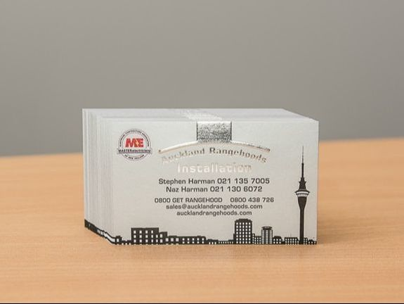 offset foil and embossed business cards