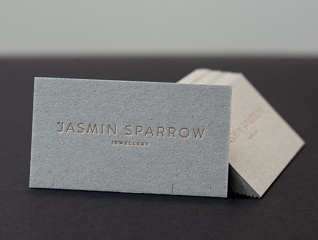 foil printed on kraft card jasmin sparrow