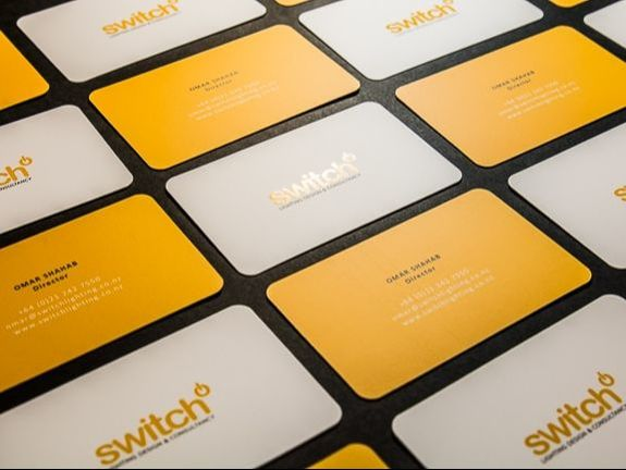 offset and spot uv business cards switch