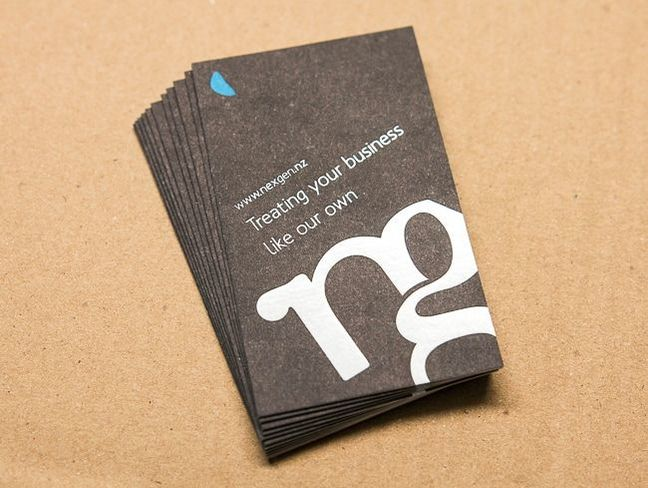offset and spot colour printed business cards