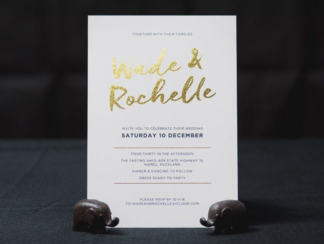 digital foil and digitally printed invites